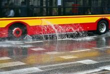 Bus During Rain