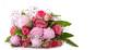 canvas print picture - freigestellter liegender Blumenstrauß
