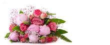 Freigestellter Liegender Blumenstrauß