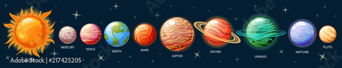 Photo Planets of the solar system