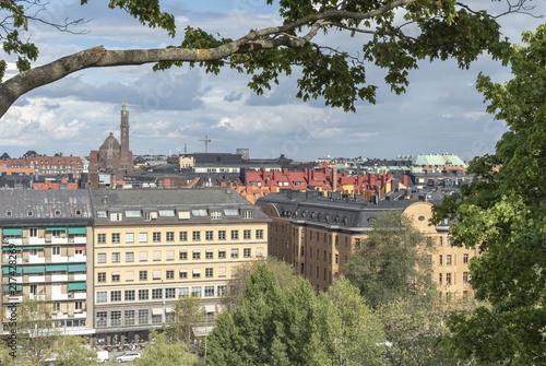Staande foto Stockholm Stockholm view from Observatorielunden