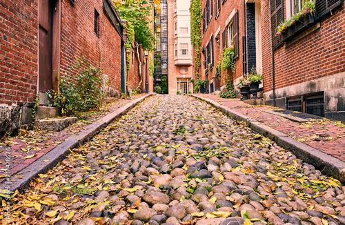 Deurstickers Centraal-Amerika Landen Historic Acorn Street at Boston