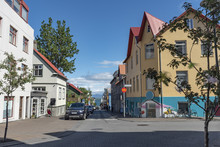 Street In Reykjavik City Center