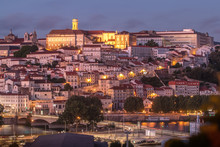 Coimbra Old Town With Universi...