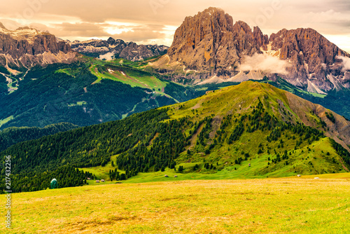 Staande foto Meloen View of the limestone Italian Alps, the Dolomites.