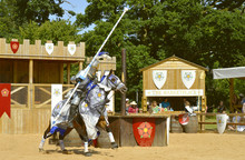 Medieval Mounted Knight In Arm...