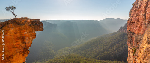 Photo Stands Blue sky Hanging Rock Panorama