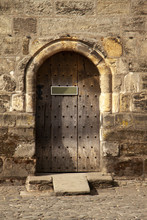 Castle Door With Plate To Writ...