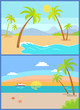 Coastline Seaview Poster Tropical Beach, Sea Sand