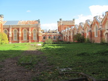 Red Brick Vintage Wall Of Royal Stables, Russia