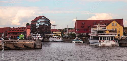 Fotobehang Poort Klaipeda,Seaport