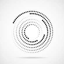 Abstract Dotted Circles. Dots ...