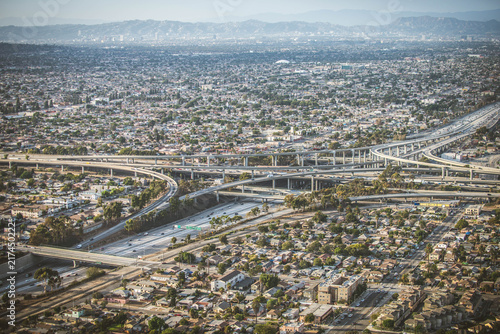 Poster Los Angeles Interchange , Loops , and Highways