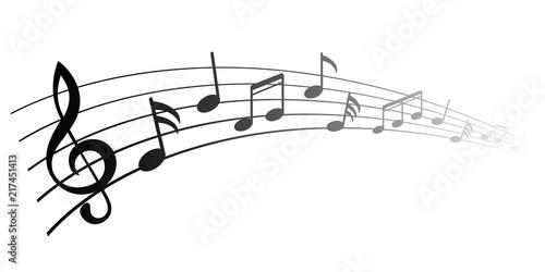 Fototapeta Music notes, group musical notes – vector obraz