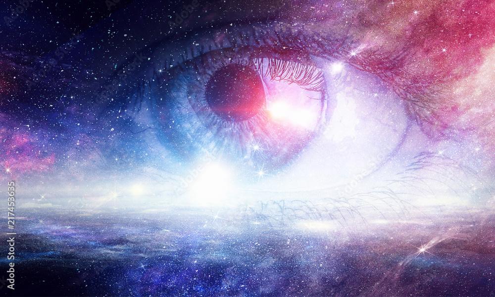 Fototapeta Space abstract backdrop