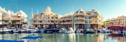 Recess Fitting Port Puerto Marina at the Benalmadena city. Costa del Sol. Spain