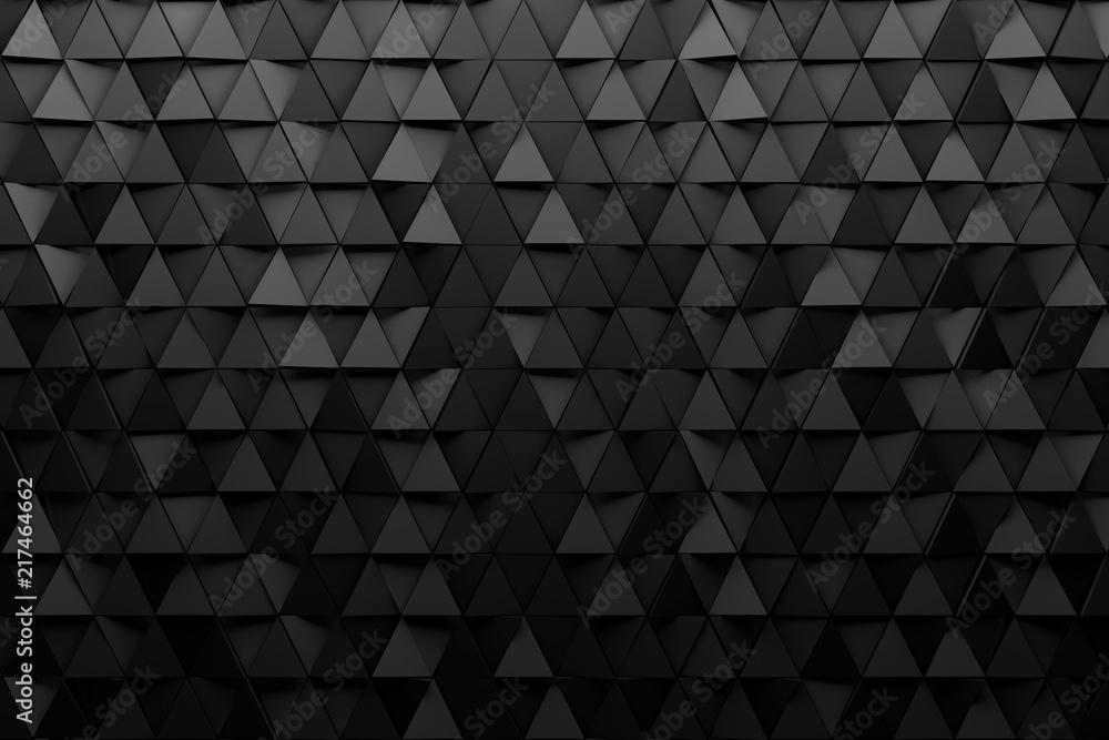 CGI 3d triangular wallpaper background