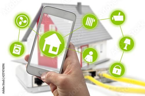 Smarthome Smartphone Hausautomation Haus Smart Home Steuerung App