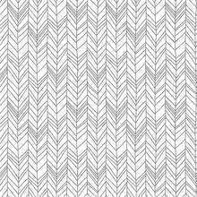 Seamless Pattern Of Herringbon...
