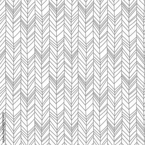 Foto auf AluDibond Boho-Stil Seamless pattern of herringbone scandinavian style background