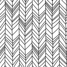Hand Drawn Chevron Herringbone...