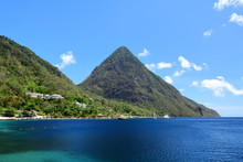 Grand Piton Mountain In Saint Lucia