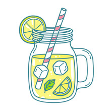 Lemonade In Mason Jar