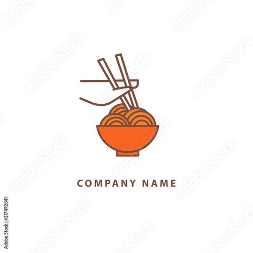 Vector Stock Logo Abstract Wok Vector Template