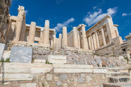 Fotobehang Athene Propylées, Acropole à Athènes