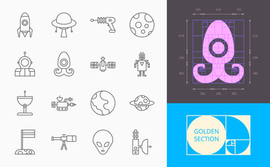 line space icons on a white background