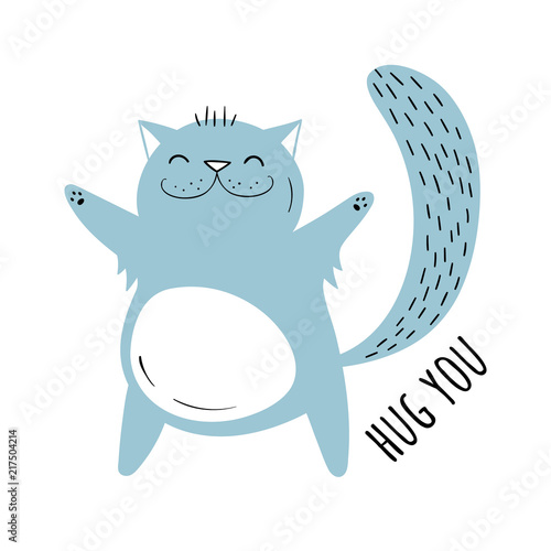 Vector illustration of a Cute cat Canvas-taulu