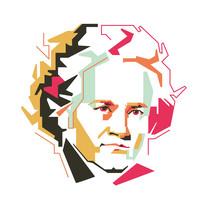 Ludwig Van Beethoven Vector Illustration