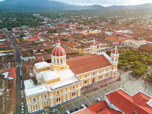 Deurstickers Centraal-Amerika Landen Streets in Granada town