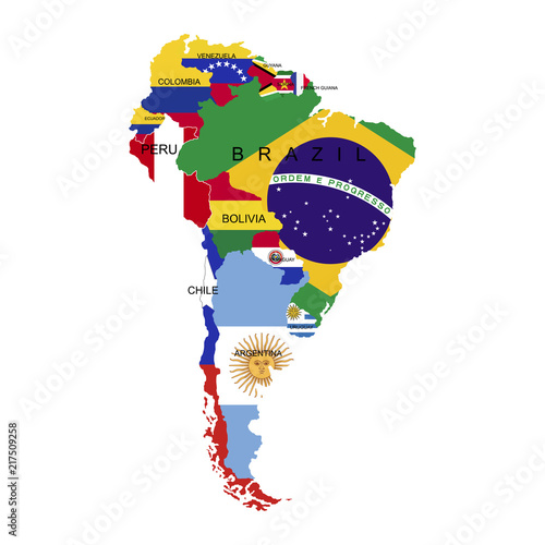 Fotografía  Territory of South America continent