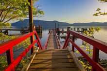 Ferry Dock At Vesuvius Bay On Salt Spring Island, BC, Canada