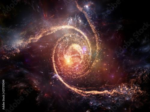 Swirl of Fractal Galaxy Poster