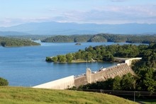 A View Of The Dam Structure From The Hill Top.