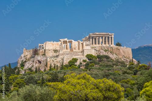 Zdjęcie XXL Widok na Akropol z wzgórza nimfy w Atenach
