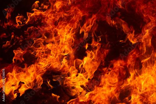 blaze fire flame texture background Fototapeta
