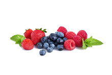Fresh Berries Isolated On The White Background
