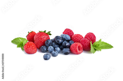 Fresh Berries Isolated on the White Background - 217540000
