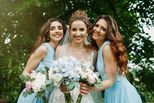 Bride With Bridesmaids On The ...
