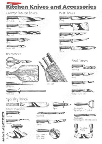Kitchen knives and accessories Tapéta, Fotótapéta