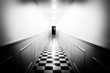 canvas print picture - hallway of horror