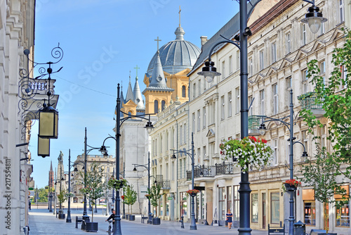 Łódź, Polska- ul. Piotrkowska.