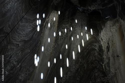Fotografía  Lights in salt mine Salina Turda Romania