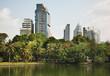 Lumphini Park at Bang Rak district of Bangkok. Kingdom of Thailand