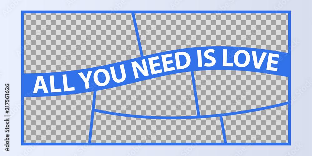 Fototapety, obrazy: Collage of photo frames vector illustration, background