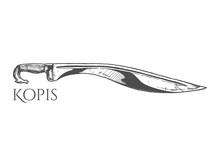 Illustration Of Kopis Sword