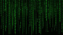 Digital Background Green Matri...